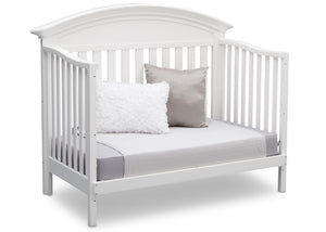 Serta Bianca (130) Aberdeen 4-in-1 Crib, Side View with Toddler Bed Conversion b6b