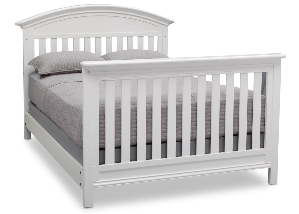 Serta Bianca (130) Aberdeen 4-in-1 Crib with Full Size Platform Bed Kit (for 4-in-1 Cribs) 700850 with Footboard b7b