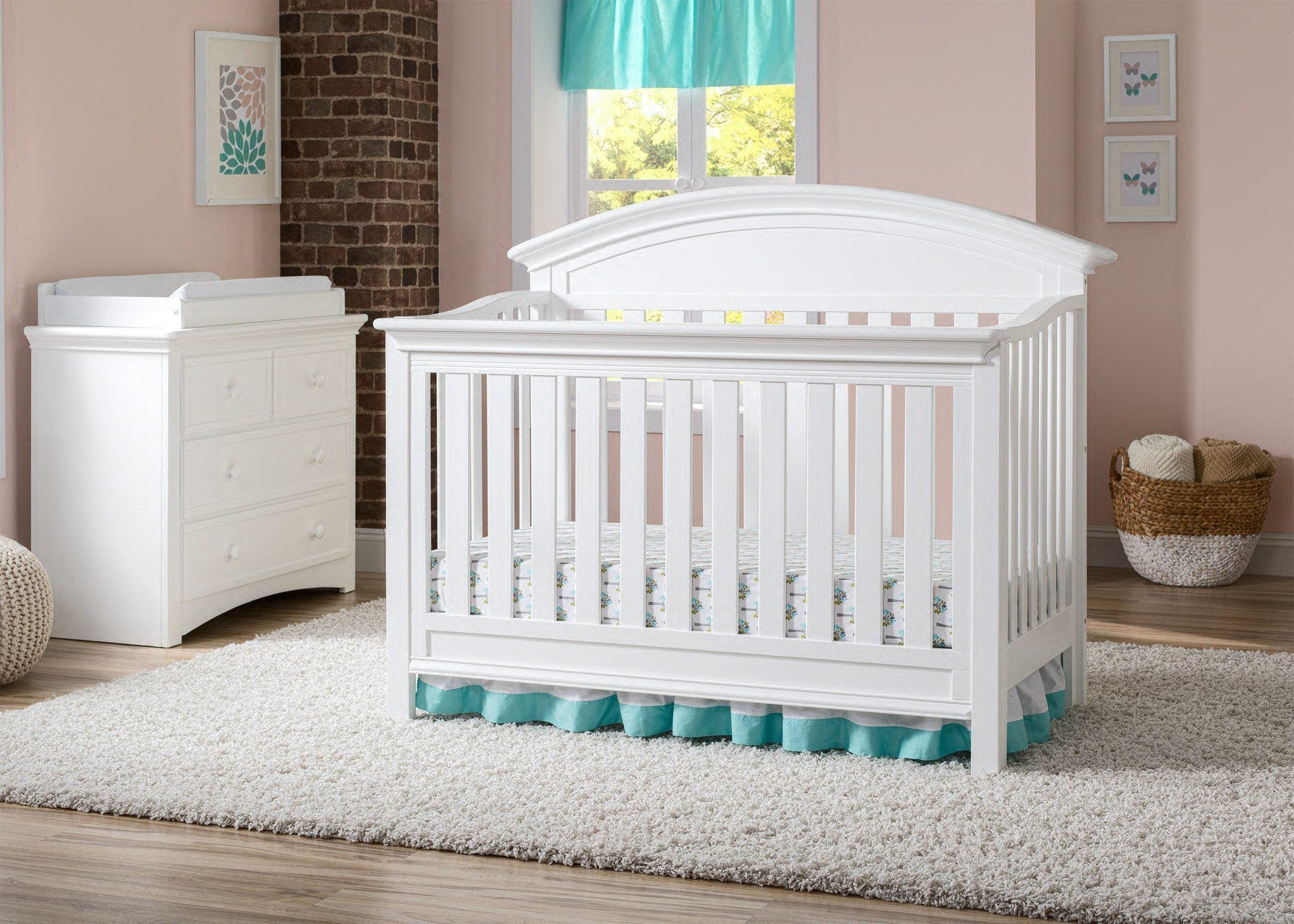 Serta Bianca (130) Aberdeen 4-in-1 Crib, Crib Conversion in Setting 2 b1b