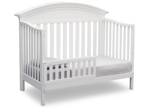 Serta Bianca (130) Aberdeen 4-in-1 Crib, Side View with Toddler Bed Conversion b5b