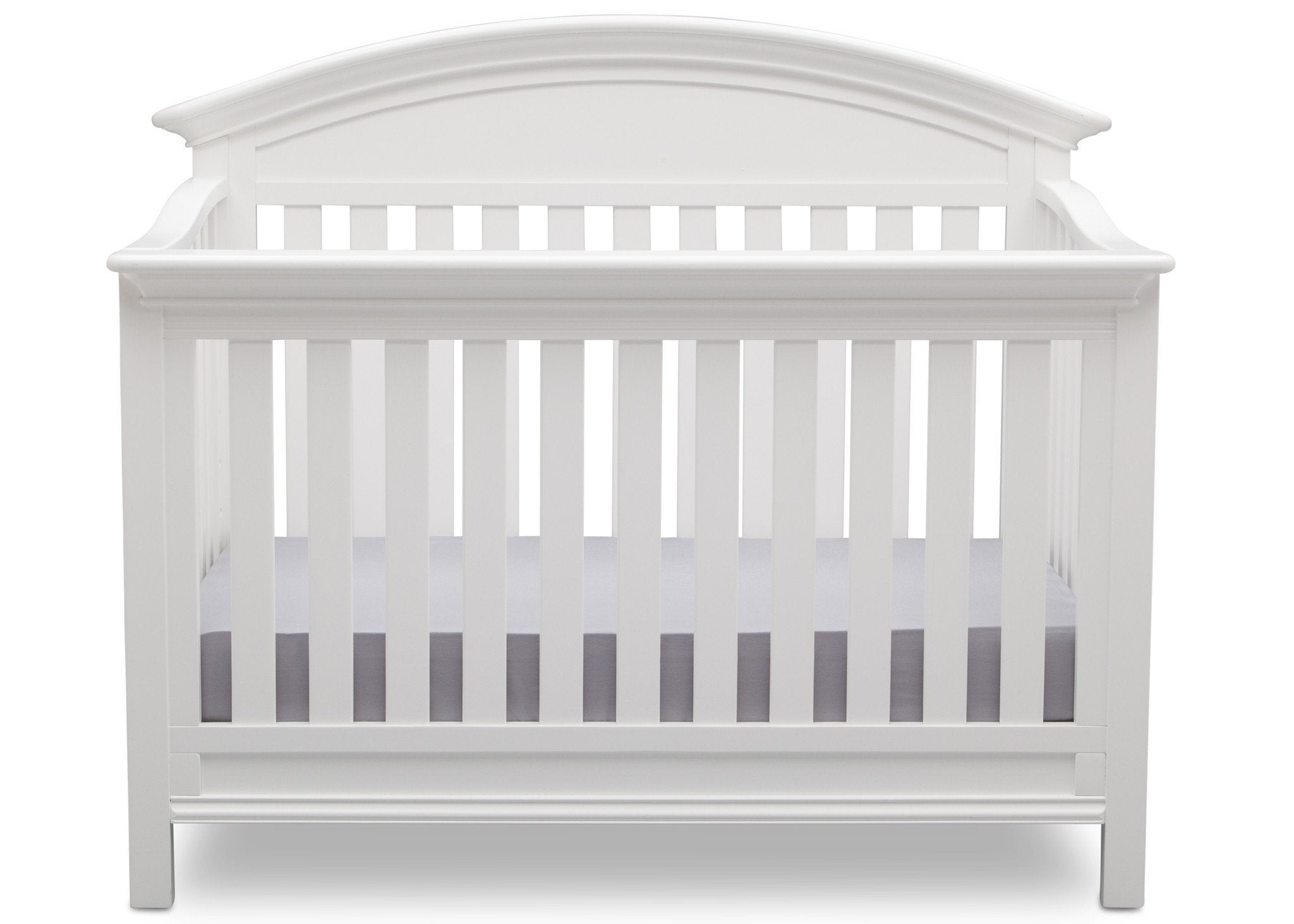 Serta Bianca (130) Aberdeen 4-in-1 Crib, Front View with Crib Conversion b3b