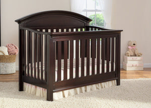 Serta Dark Chocolate (207) Aberdeen 4-in-1 Crib, Crib Conversion in Setting 1 c2c
