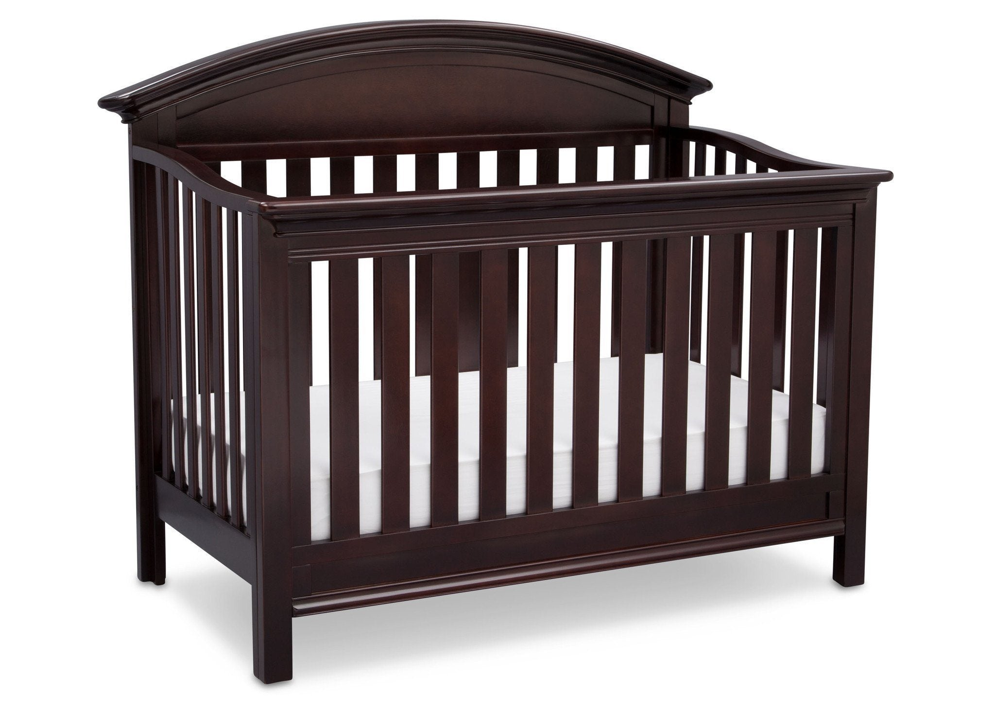 Serta Dark Chocolate (207) Aberdeen 4-in-1 Crib, Side View with Crib Conversion c4c