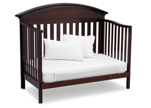 Serta Dark Chocolate (207) Aberdeen 4-in-1 Crib, Side View with Day Bed Conversion c6c