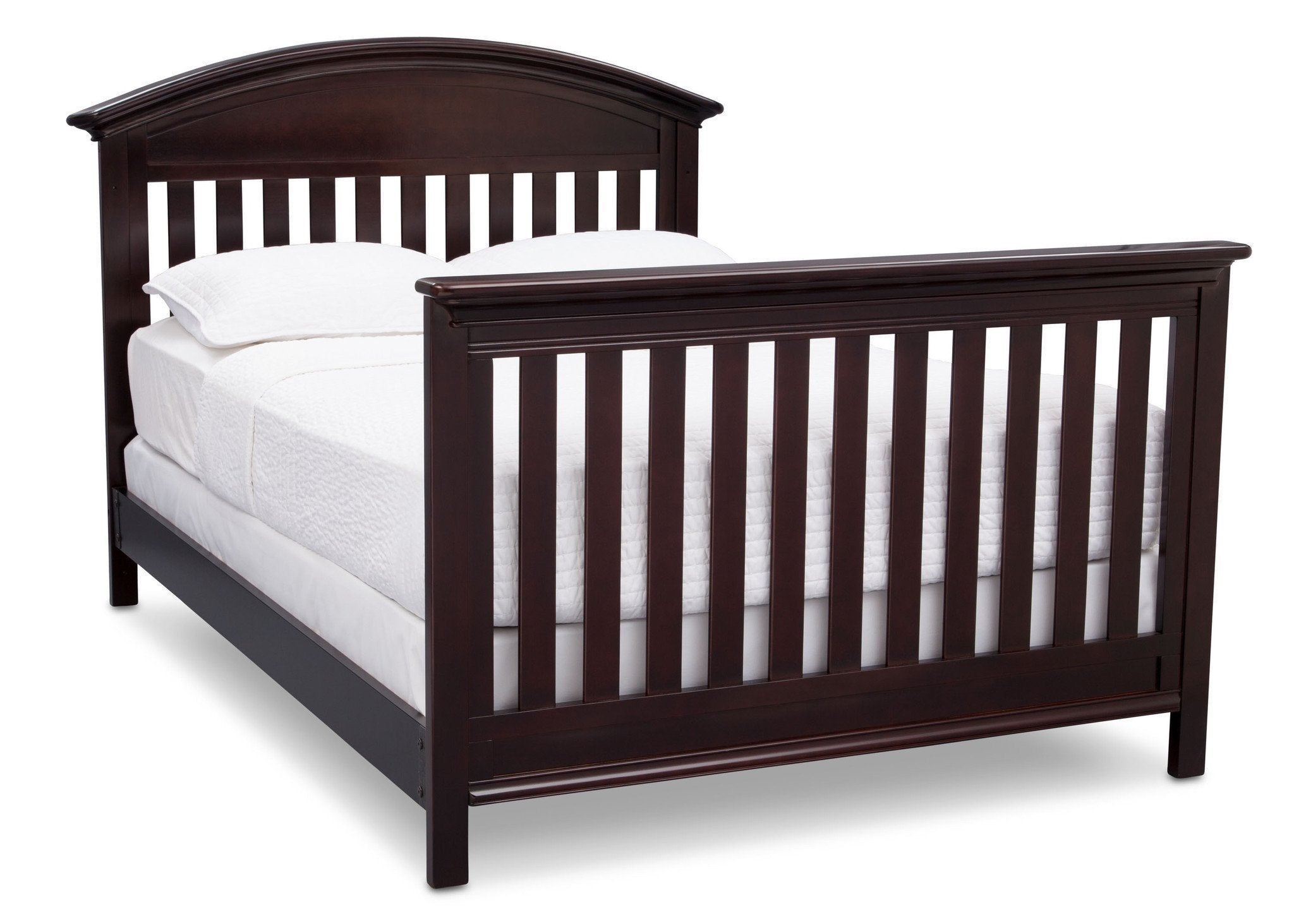 Serta Dark Chocolate (207) Aberdeen 4-in-1 Crib with Full Size Platform Bed Kit (for 4-in-1 Cribs) 700850 with Footboard c7c