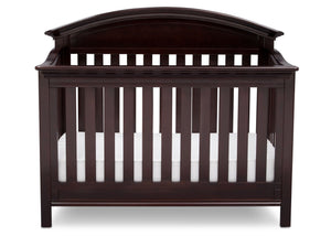 Serta Dark Chocolate (207) Aberdeen 4-in-1 Crib, Front View with Crib Conversion c3c