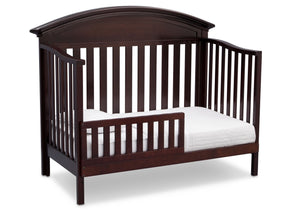 Serta Dark Chocolate (207) Aberdeen 4-in-1 Crib, Side View with Toddler Bed Conversion c5c