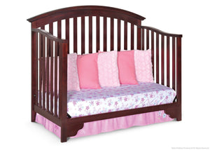 Delta Children Black Cherry Espresso (607) Sonoma 4-in-1 Crib, Day Bed Conversion a4a