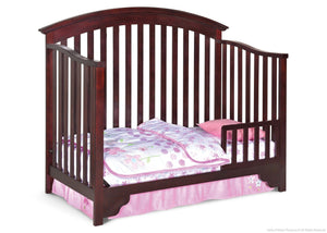 Delta Children Black Cherry Espresso (607) Sonoma 4-in-1 Crib, Toddler Bed Conversion a3a