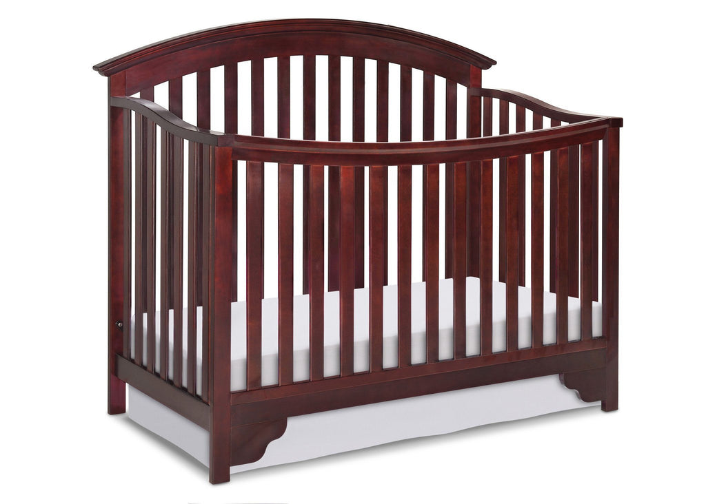 Delta Children Black Cherry Espresso (607) Sonoma 4-in-1 Crib, Crib Conversion a2a