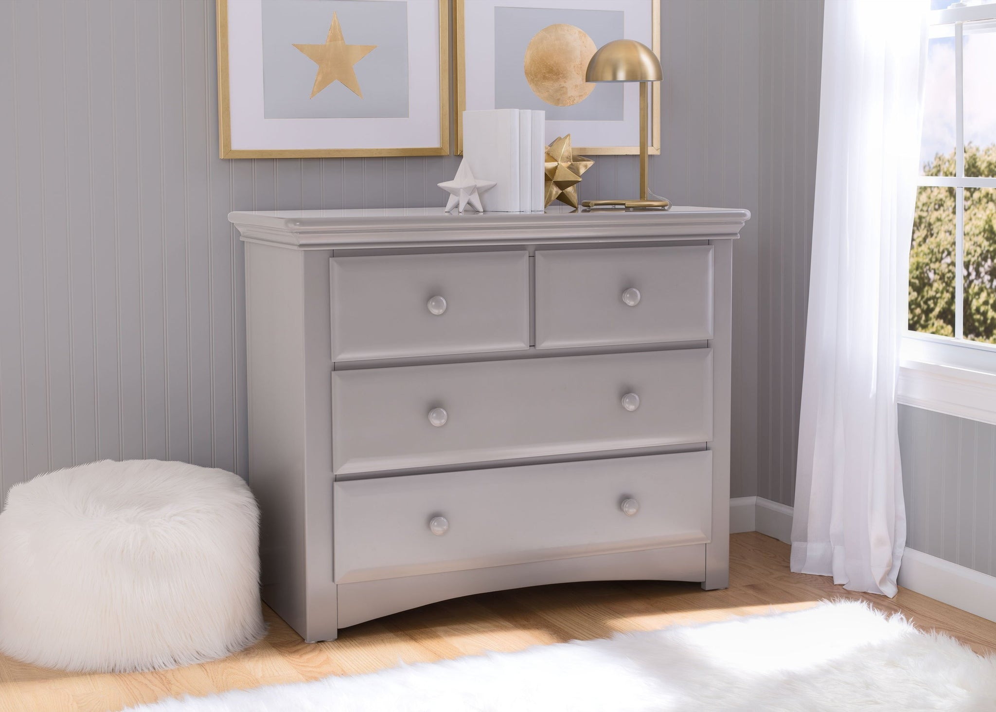 Serta Grey (026) Park Ridge 4 Drawer Dresser (702640), Room, a1a