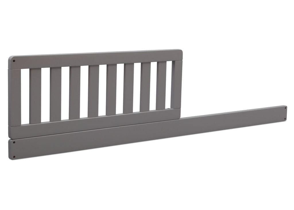 Grey (026) Toddler Guardrail/Daybed Rail Kit, Side View a1a for Banbury 4-in- 1 Convertible Crib