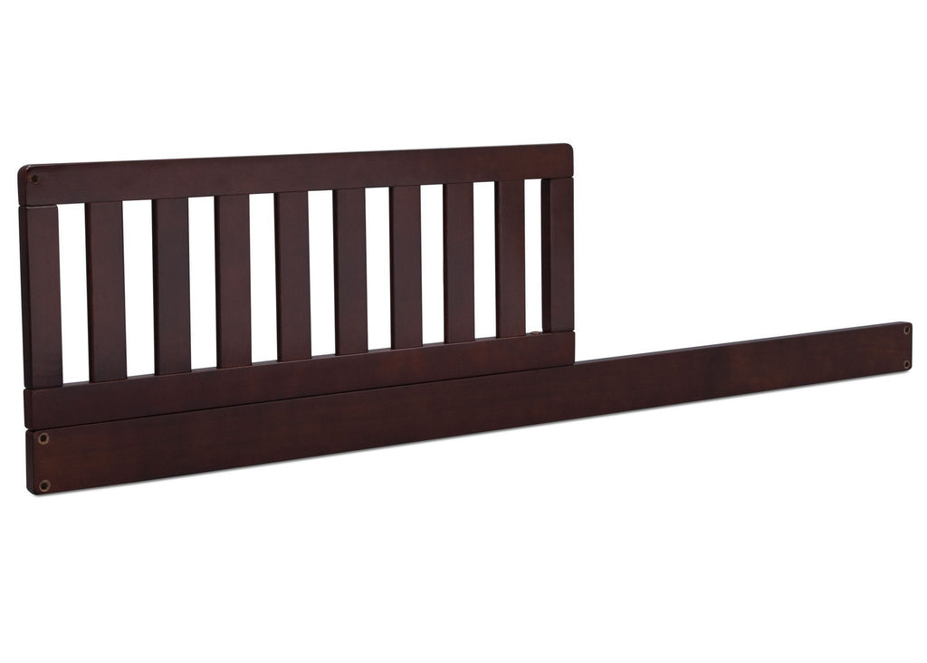 Dark Chocolate (207) Toddler Guardrail/Daybed Rail Kit, Side View c1c for Banbury 4-in-1 Convertible Crib