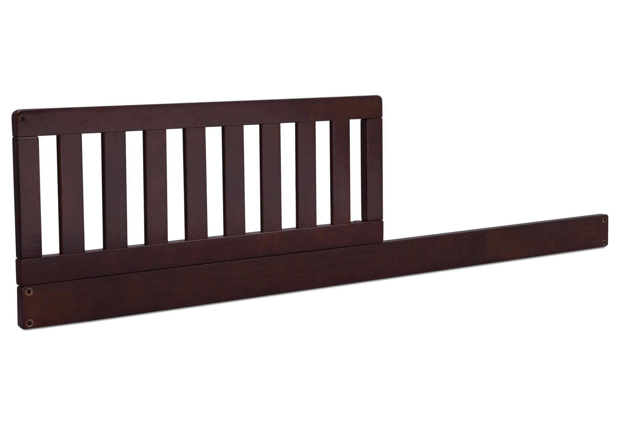 Dark Chocolate (207ST) Toddler Guardrail/Daybed Rail Kit, Side View c1c