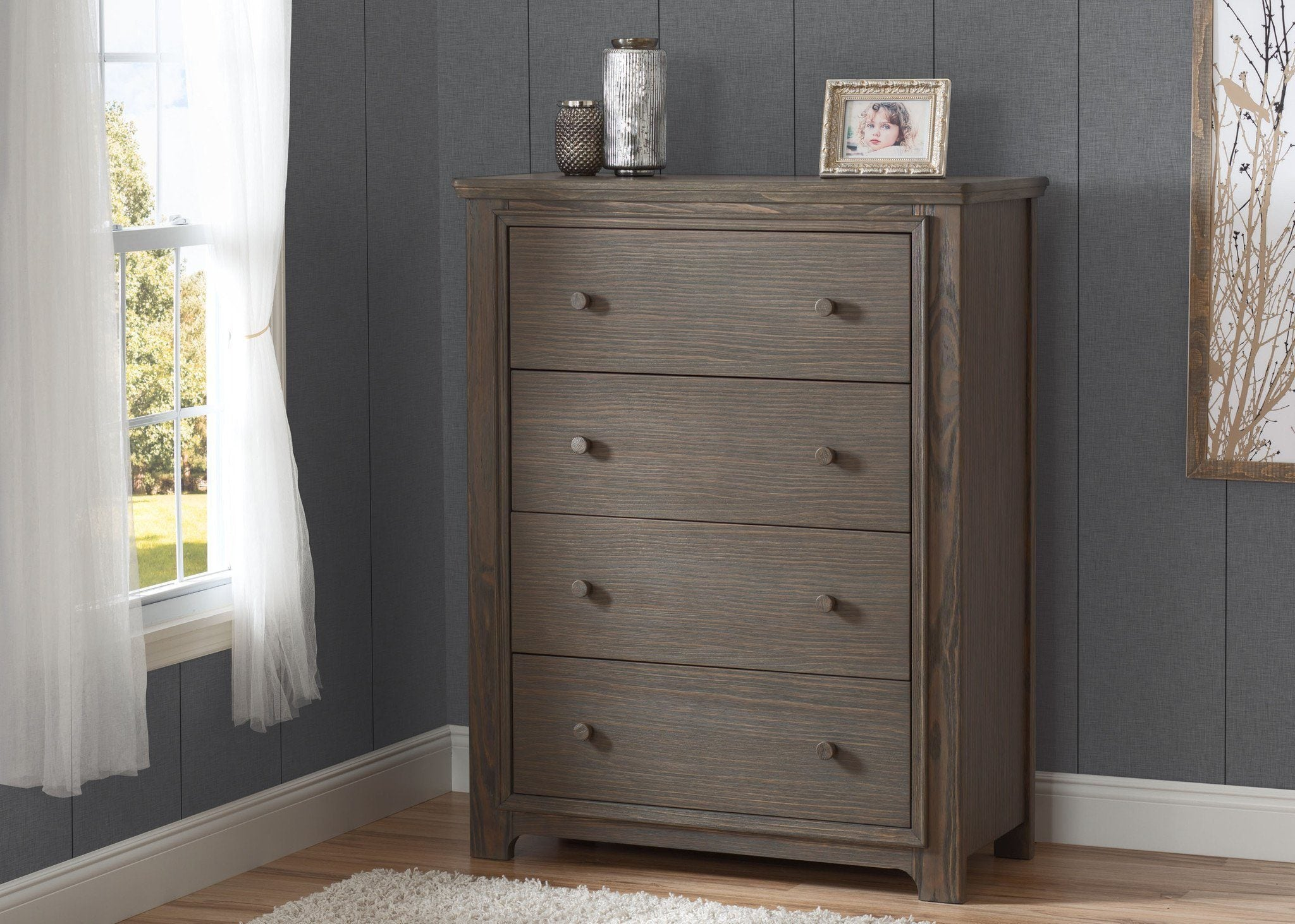 Serta Rustic Grey (084) Langley 4 Drawer Chest, Hangtag View a1a