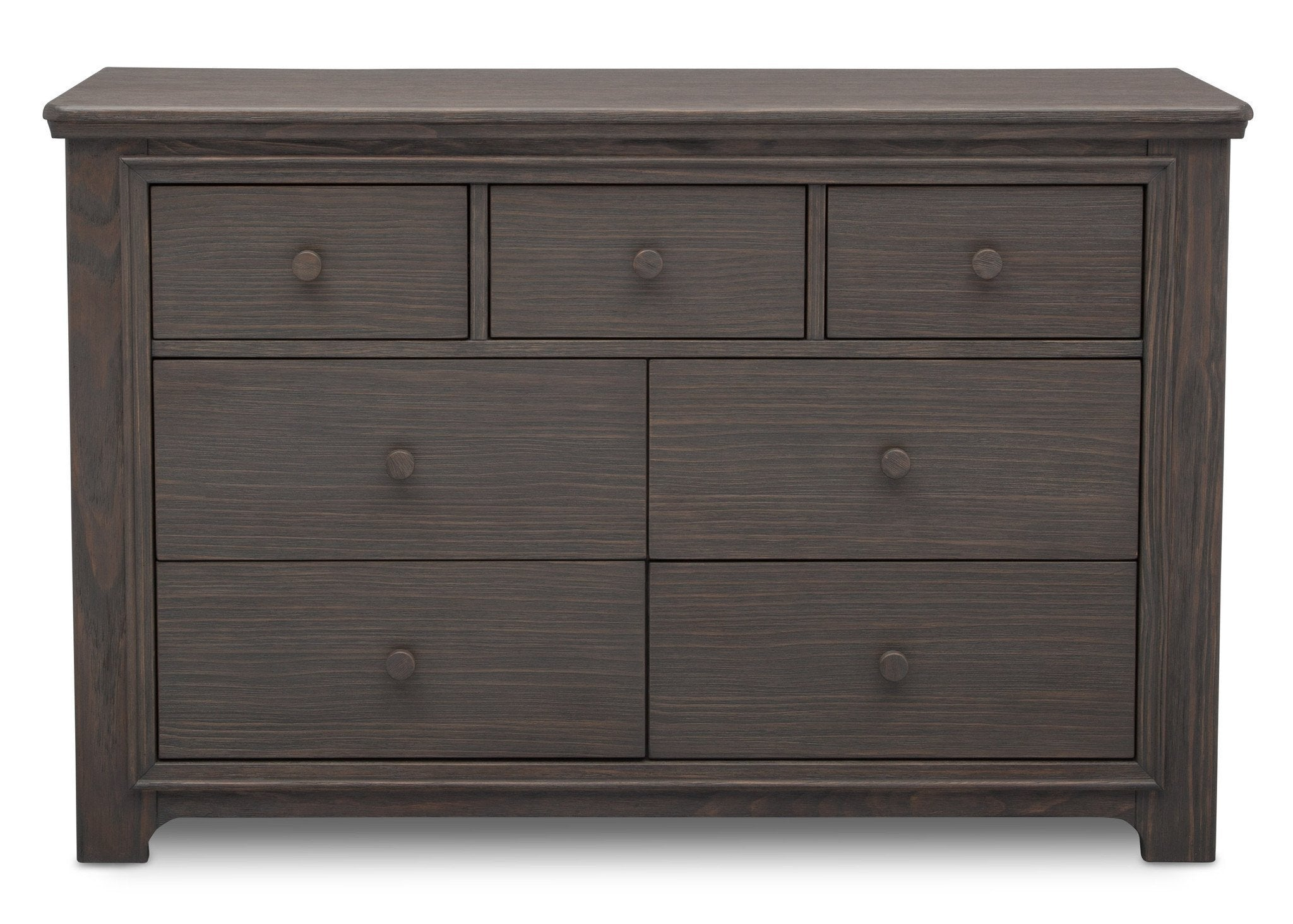 Serta Rustic Grey (084) Langley 7 Drawer Dresser, Front View a1a