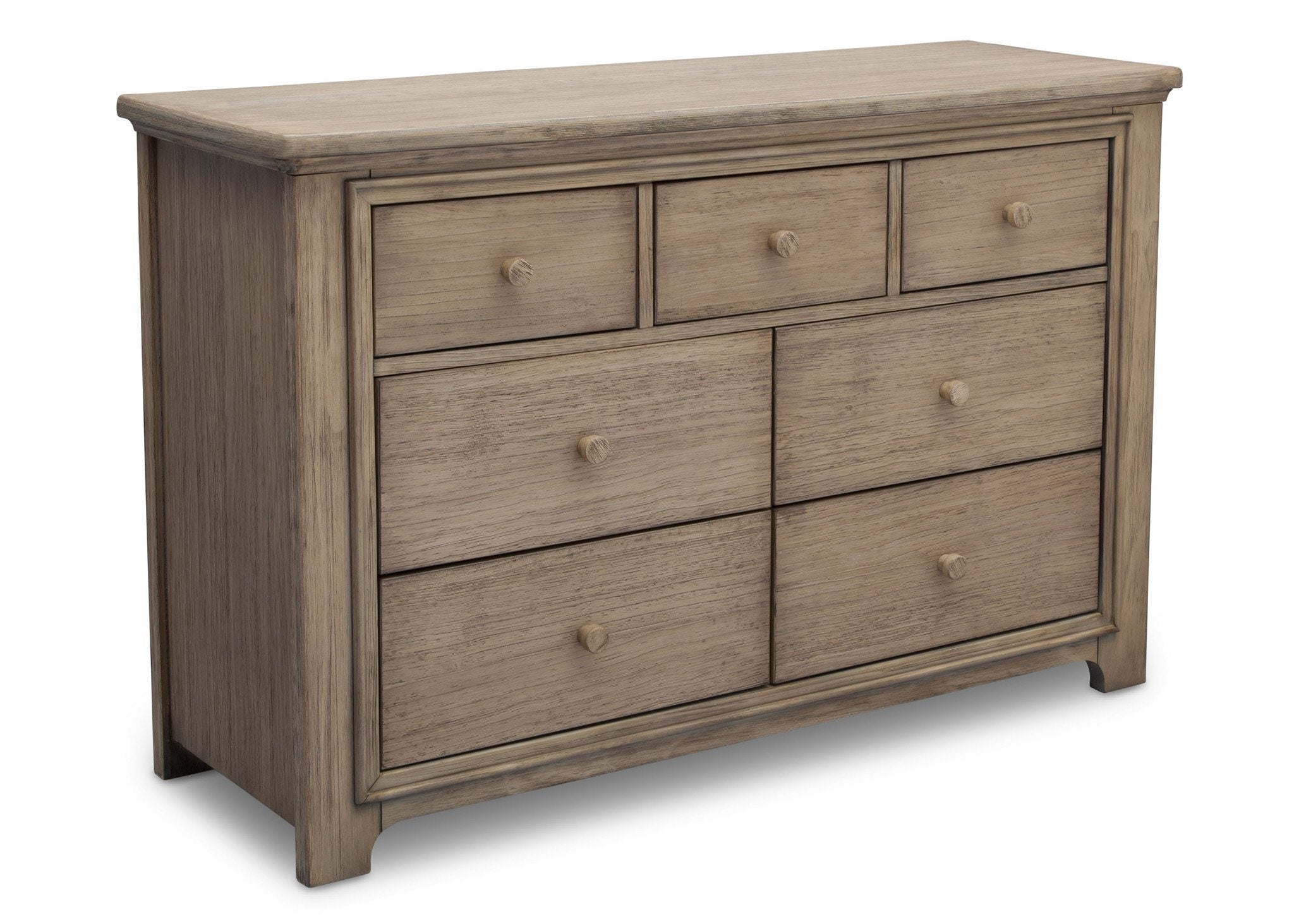 Serta Rustic Driftwood (112) Langley 7 Drawer Dresser, Right View b2b