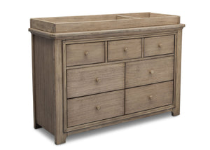Serta Rustic Driftwood (112) Langley 7 Drawer Dresser, Right View b4b