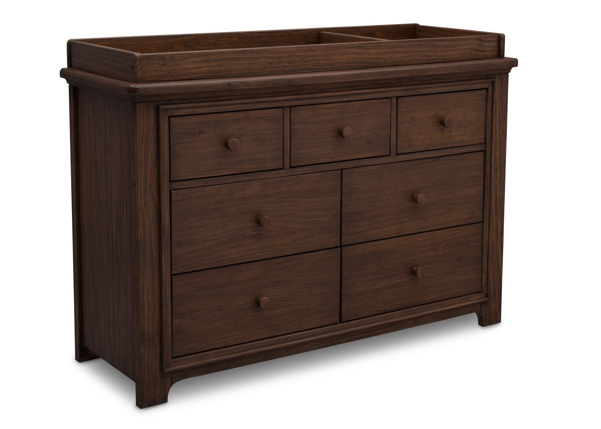 Serta Rustic Oak (229) Langley 7 Drawer Dresser, Right View with Top c4c