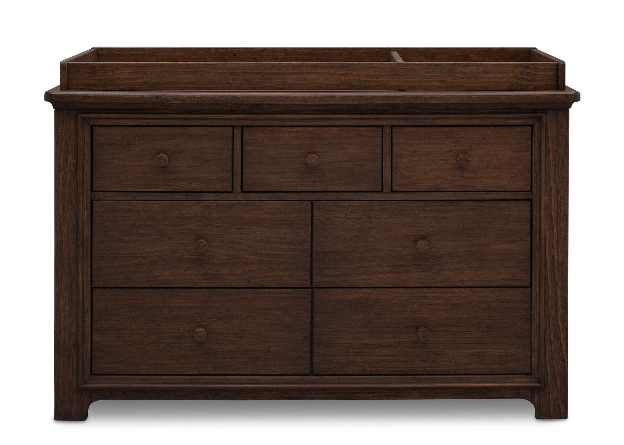 Serta Rustic Oak (229) Langley 7 Drawer Dresser, Front View with Top c1c
