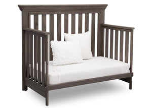 Serta Rustic Grey (084) Langley 4-in-1 Crib Right View Day Bed Conversion a4a