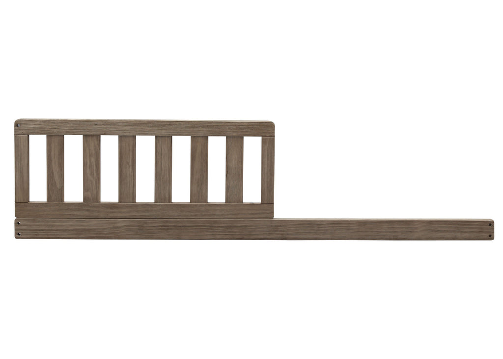 Serta Daybed/Toddler Guardrail Kit (703725) Rustic Whitewash (112) Front View a0a for Langley 4-in-1 Convertible Crib
