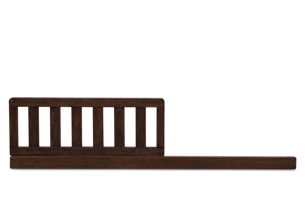 Serta Daybed/Toddler Guardrail Kit (703725) Rustic Oak (229) Front View c1c Langley 4-in-1 Convertible Crib