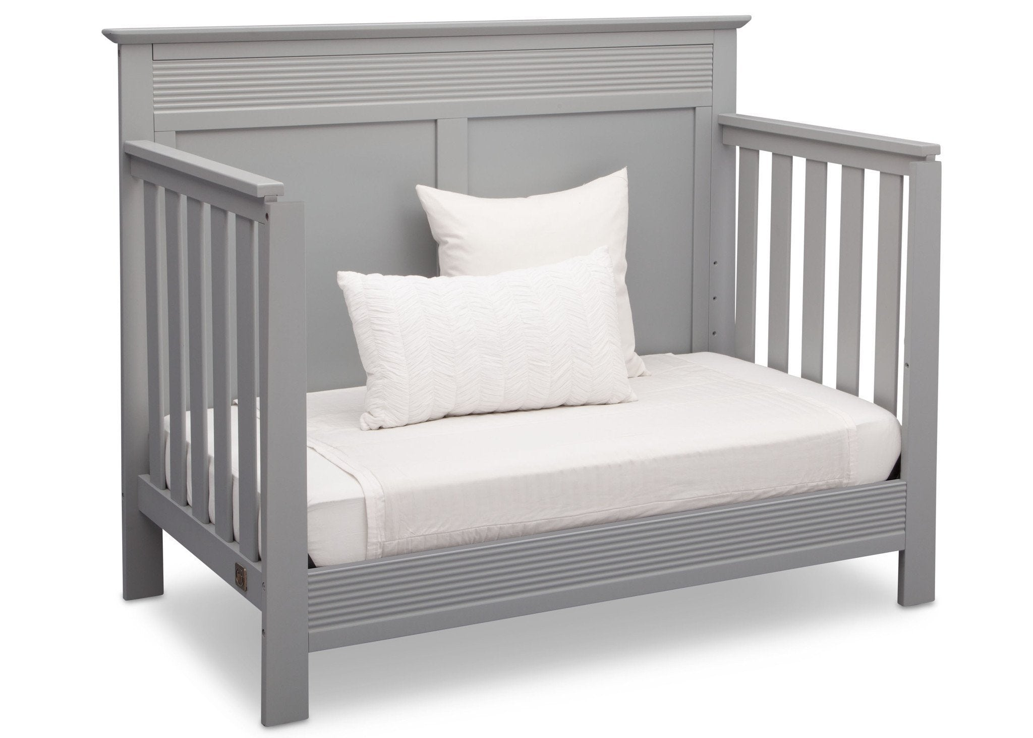 Serta Grey (026) Fall River 4-in-1 Convertible Crib, Right Daybed View a4a