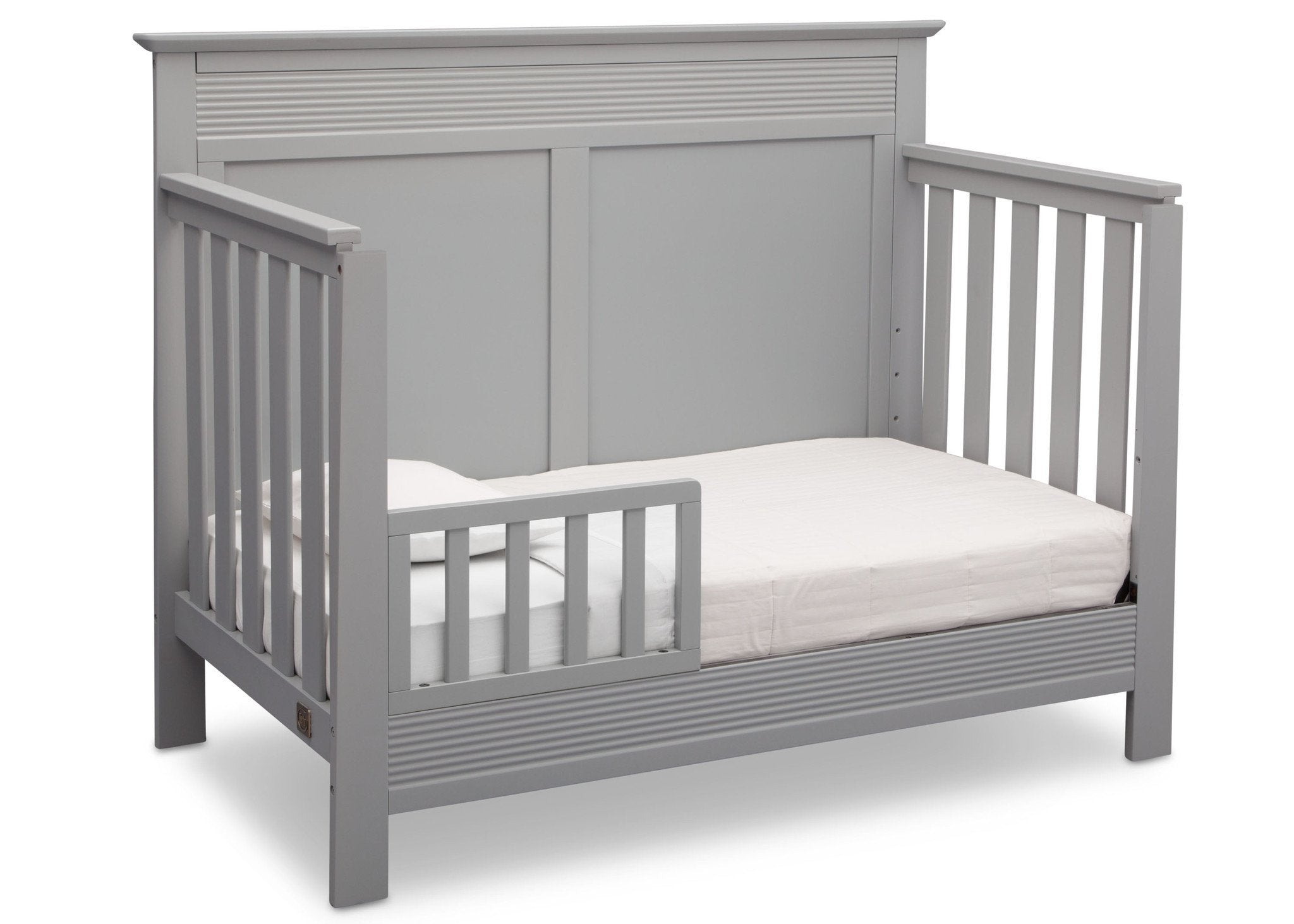 Serta Grey (026) Fall River 4-in-1 Convertible Crib, Right Toddler Bed View a3a