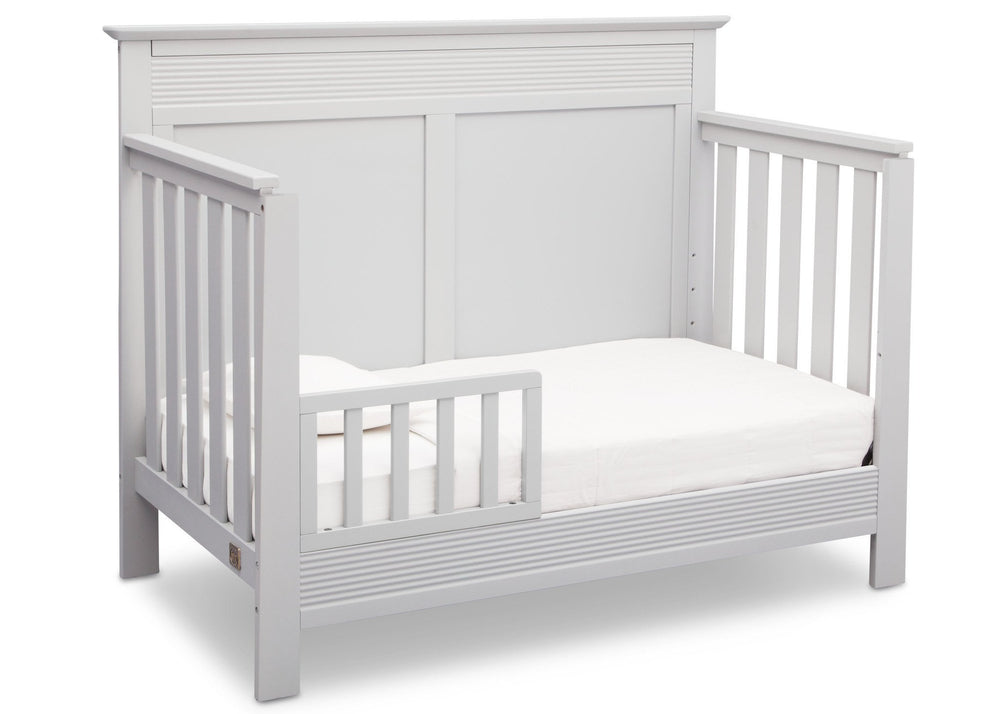 Serta Bianca (130) Fall River 4-in-1 Convertible Crib, Right Toddler Bed View b3b