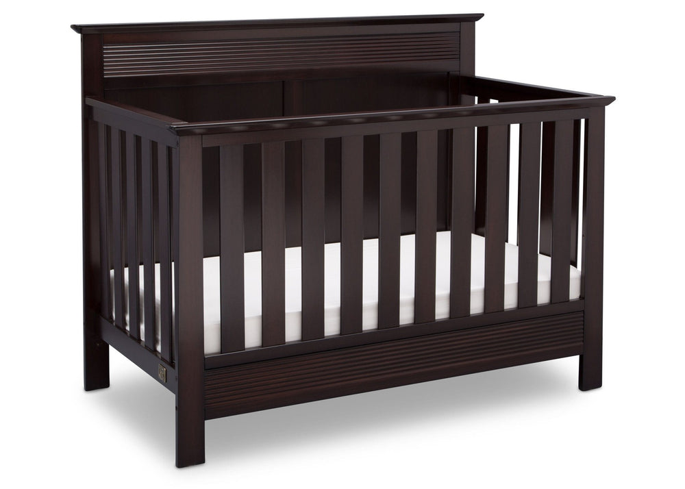 Serta Dark Chocolate (207) Fall River 4-in-1 Convertible Crib, Right Crib View c2c