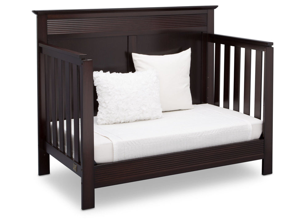 Serta Dark Chocolate (207) Fall River 4-in-1 Convertible Crib, Right Daybed View c4c