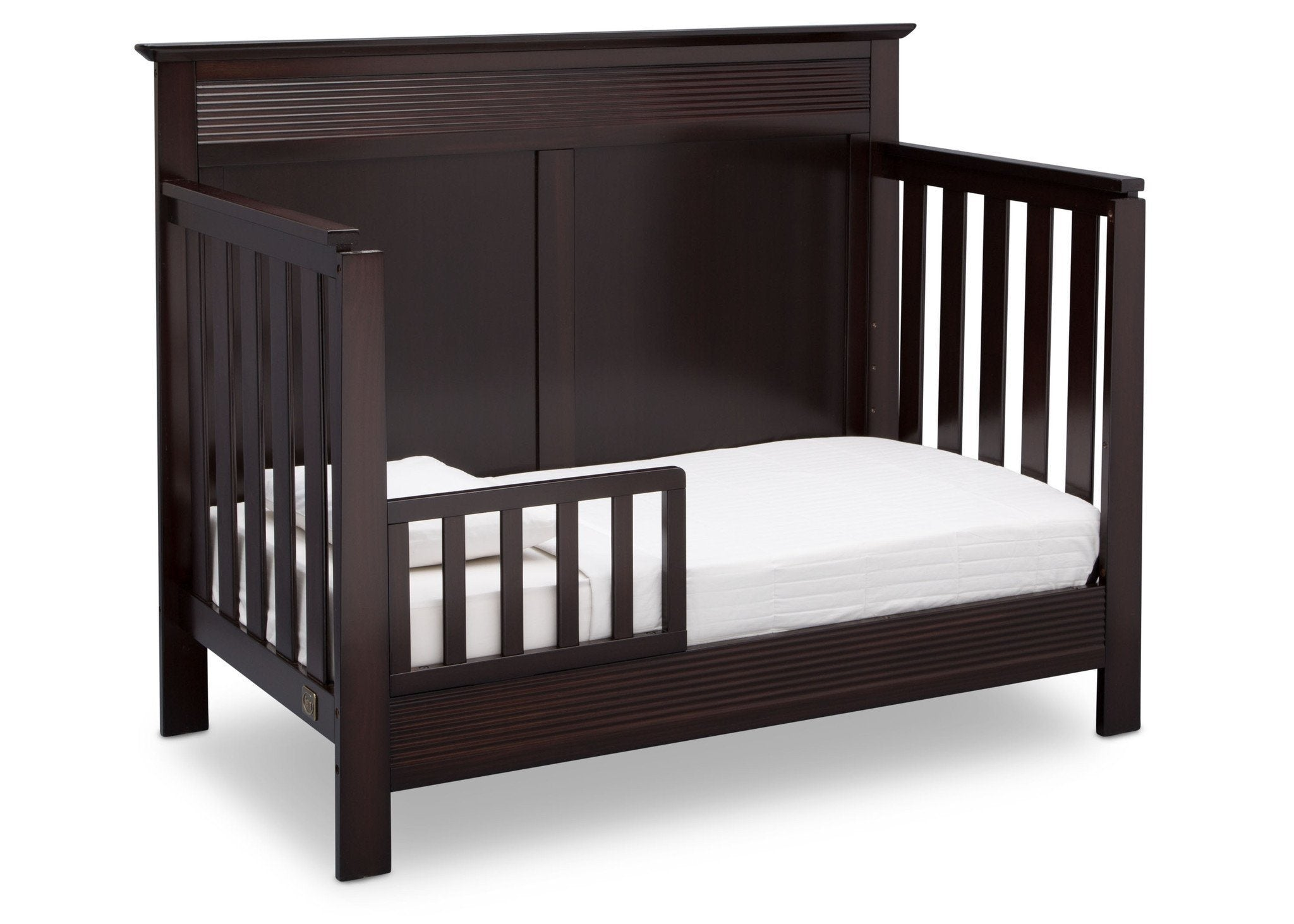 Serta Dark Chocolate (207) Fall River 4-in-1 Convertible Crib, Right Toddler Bed View c3c