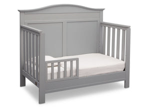 Serta Grey (026) Barrett 4-in-1 Convertible Crib, Right Toddler Bed View a3a