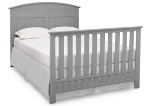 Serta Grey (026) Ashland 4-in-1 Convertible Crib, Right Full Bed View with Footboard a6a