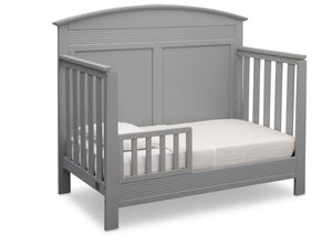 Serta Grey (026) Ashland 4-in-1 Convertible Crib, Right Toddler Bed View a3a