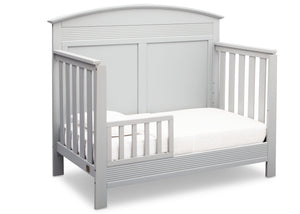 Serta Bianca White (130) Ashland 4-in-1 Convertible Crib, Right Toddler Bed View b3b