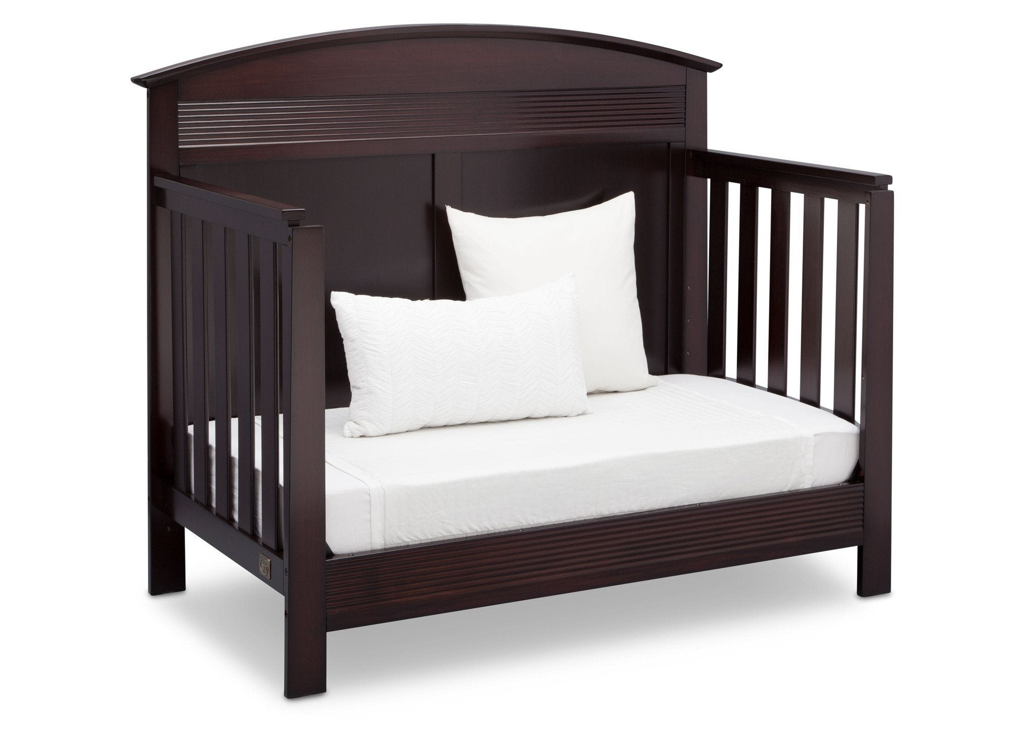 Serta Dark Chocolate (207) Ashland 4-in-1 Convertible Crib, Right Day Bed View c4c