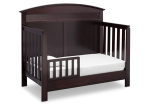 Serta Dark Chocolate (207) Ashland 4-in-1 Convertible Crib, Right Toddler Bed View c3c