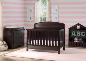 Serta Dark Chocolate (207) Ashland 4-in-1 Convertible Crib, Room View c1c