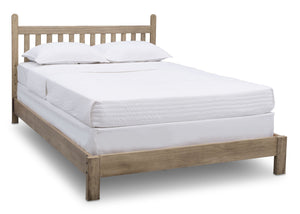 Delta Children Rustic Driftwood (112), Cali 4-in-1 Crib, angled conversion to full size bed, b6b