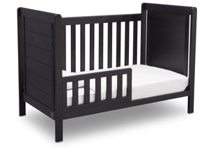 Delta Children Rustic Ebony (935) Cali 4-in-1 Crib, angled conversion to toddler bed, c4c