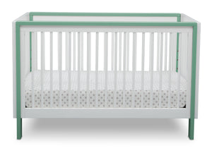 Serta Fremont 3-in-1 Convertible Crib Bianca with Aqua (134) Front a3a