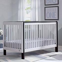 Fremont 3-in-1 Crib (Bianca with Ebony) - bundle