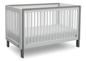 Serta Fremont 3-in-1 Convertible Crib Bianca White with Grey (166) Angle c2c