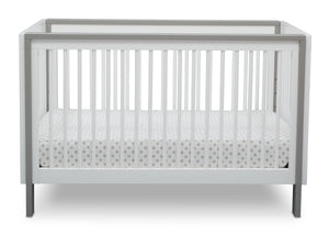 Serta Fremont 3-in-1 Convertible Crib Bianca White with Grey (166) Front c3c
