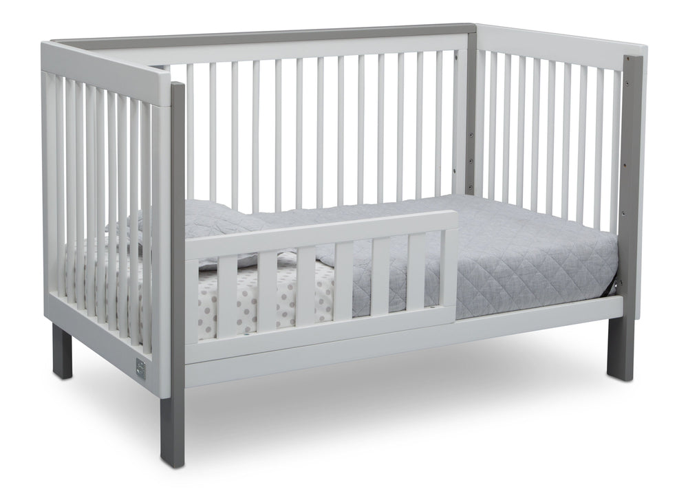 Serta Fremont 3-in-1 Convertible Crib Bianca with Grey (166) Toddler Bed c4c