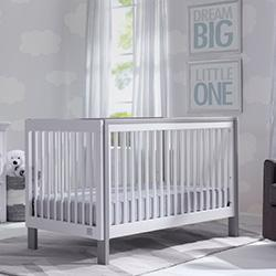 Fremont 3-in-1 Crib (Bianca with Grey) - bundle