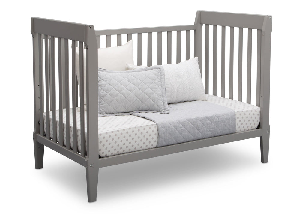 Serta Mid-Century Modern Classic 5-in-1 Convertible Crib Grey (026) Daybed a5a