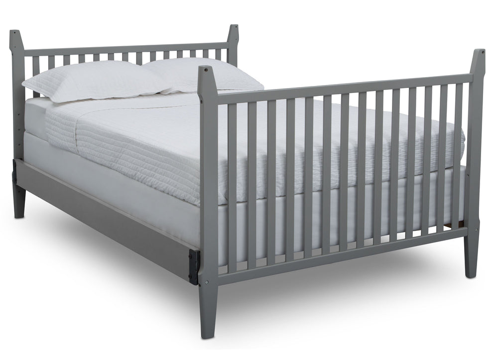 Serta Mid-Century Modern Classic 5-in-1 Convertible Crib Grey (026) Fullsize Footboard a6a